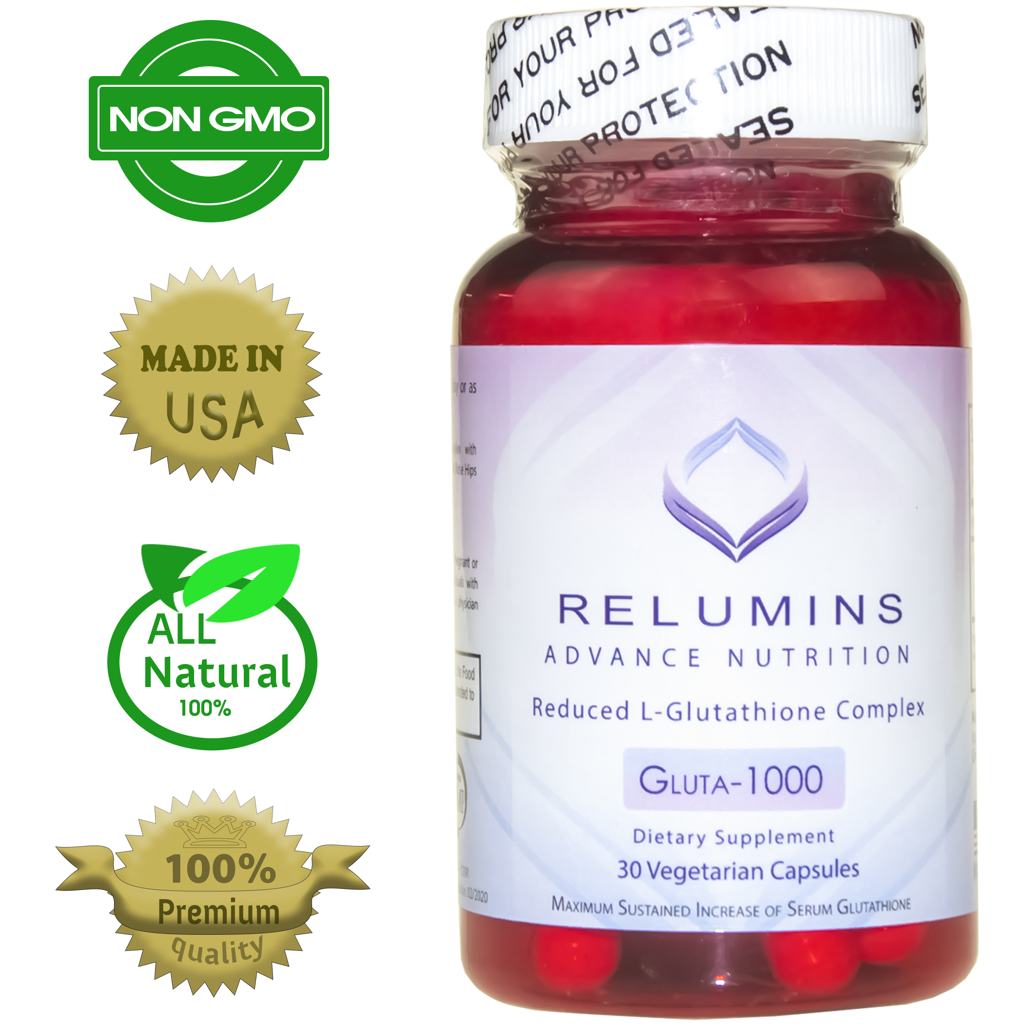 authentic relumins advance nutrition reduced l glutathione complex gluta 1000. Black Bedroom Furniture Sets. Home Design Ideas