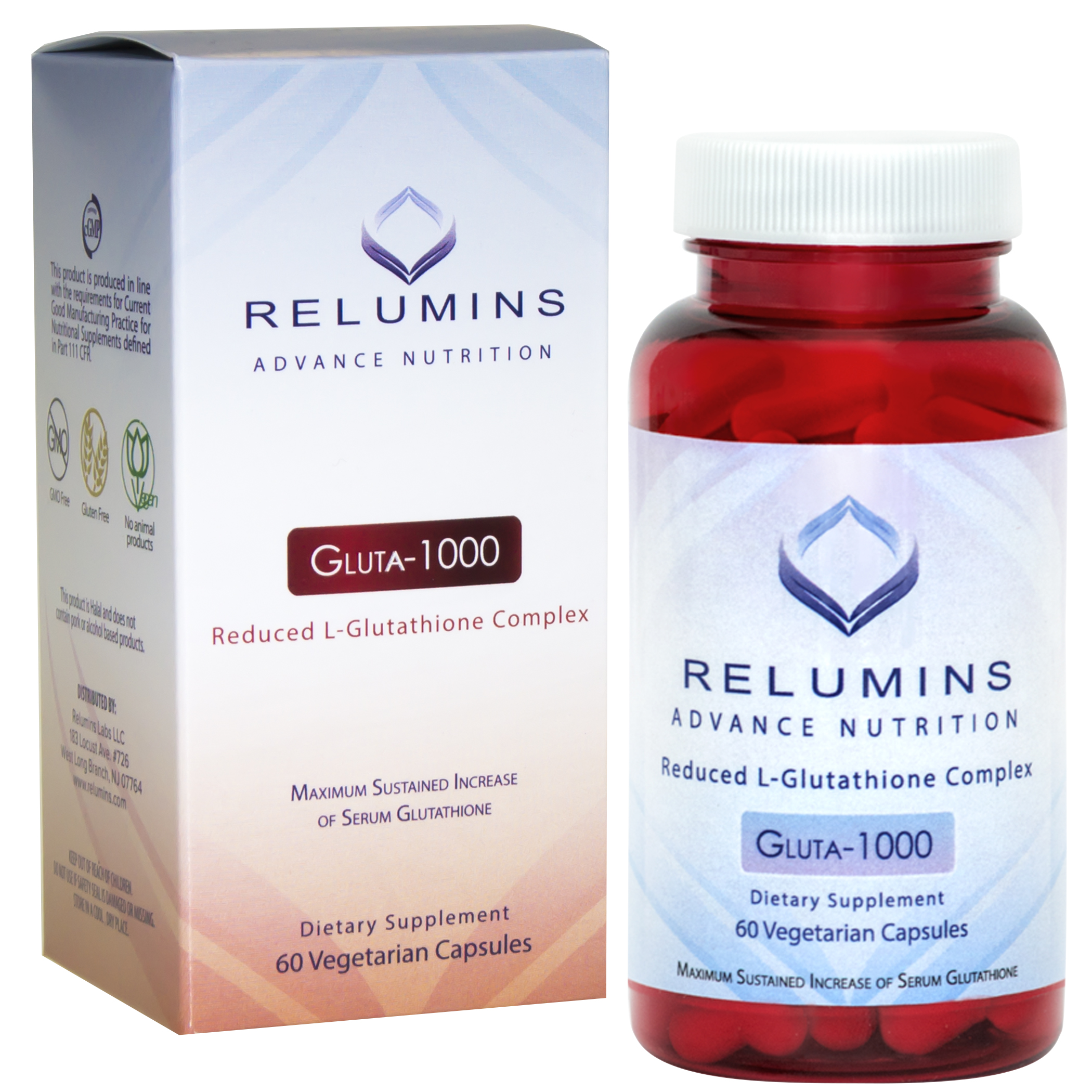 Authentic Relumins Advance Nutrition Reduced L-Glutathione