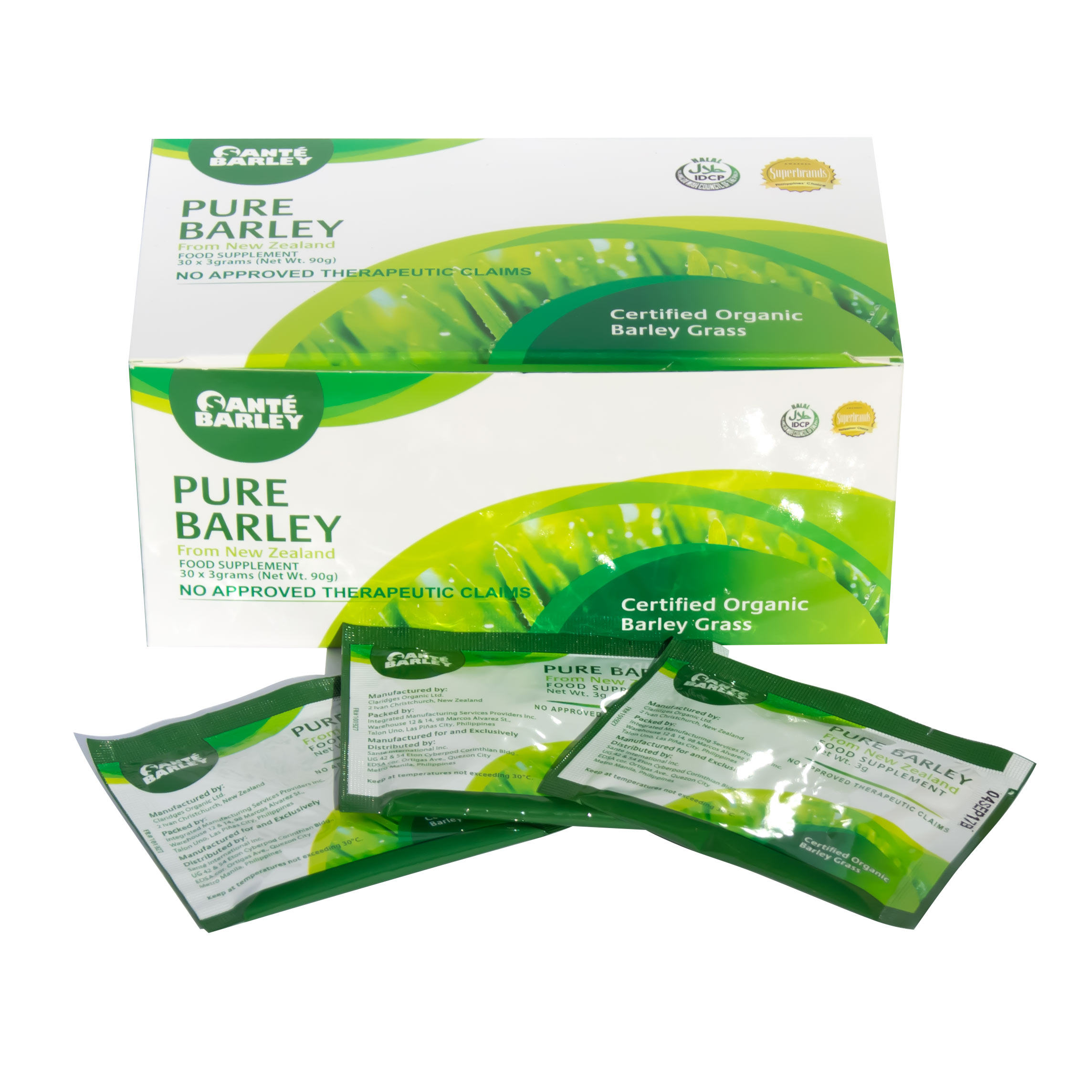 Sante Pure Barley New Zealand Blend With Stevia