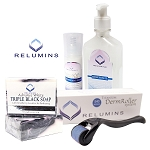 Authentic Relumins Advance White Acne Scar & Dark Spot Treatment Set with Titanium Derm Roller