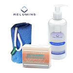 Authentic Relumins Advance White Body Whitening & Exfoliating Set Great for Old Scars & Marks