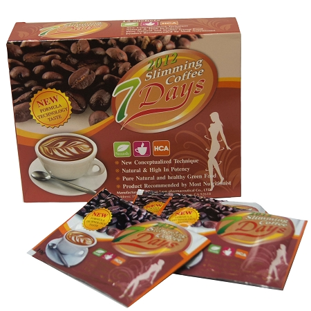 Boxes of Authentic 7 Days Brazilian Slimming Coffee New Formula-New
