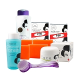 Kojie San Face & Body Complete Whitening !!! - W/ 4 Bars Soap, SPF Body Lotion, Face Cream, Toner and Brush