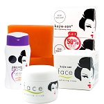 Kojie San Face & Body Whitening Mini Set with Soap, Face Cream, and SPF Body Lotion!