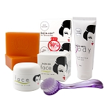 Kojie San Total Skin Lightening Set - Soap, Lotion, Cream  & Brush!