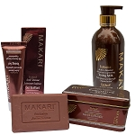 Makari Exclusive Active Intense 3pc Set with Toning Milk, Whitening Gel & Exfoliating Soap - Maximum Strength