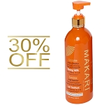 30% OFF!!! Makari Extreme Advanced Lightening Carrot & Argan Oil Toning Milk - W/ Vitamin-E, C & Organiclarine - 500mL