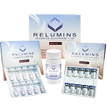 New Relumins Glutathione 1100mg with Relumin Gluta 1100 plus Booster 30 Capsule