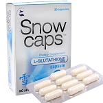 Snow Caps L-Glutathione Capsules with Alpha Lipoic Acid and Vitamin C - 500mg Glutathione Per Capsule - 30 Capsules
