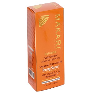 Makari Extreme Advanced Lightening Carrot & Argan Oil Toning Serum - W/ Vitamin-E, C & Organiclarine - 1.7oz