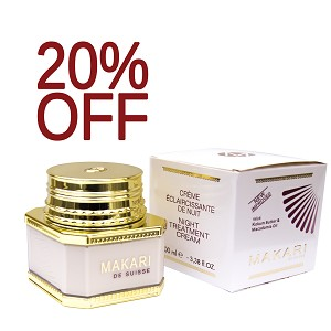 SALE 20% OFF!! Makari Night Treatment Lightening and Balancing Cream with Kokum Butter & Macadamia Oil 3.35oz