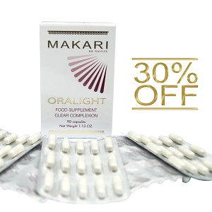 30% OFF!!! Makari Oralight Clear Complexion Food Supplement 90 caps