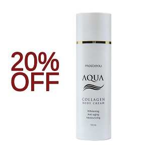 SALE 20% OFF!!!!  Authentic Mosbeau AQUA Collagen Body Cream - Collagen and Hyaluronic Acid for Whitening, Reducing the Appearance of Aging and Moisturizing- NEW FORMULA!