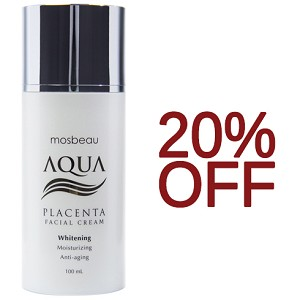 SALE 20% OFF!!!! Authentic Mosbeau AQUA Placenta Face Cream - Whitening, Moisturizing - NEW FORMULA!