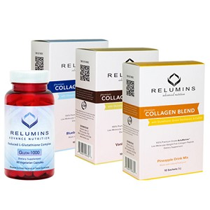 NEW! Relumins Premium Collagen and Glutathione.  Feel Good - Look Good Set!!!