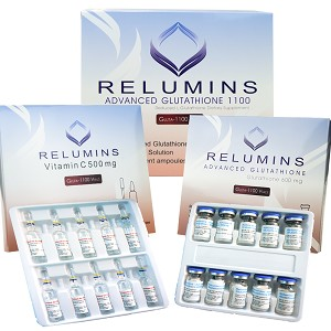 Authentic Relumins Advanced Glutathione 1100mg 10vials - Glutathione & Vitamin C - Whitens, repairs & rejuvenates skin