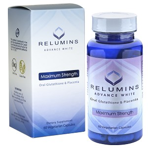 Authentic Relumins Advanced White Oral Whitening Formula Capsules - Whitens, repairs & rejuvenates skin - NEW AND IMPROVED now with Rose Hips