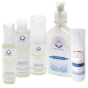 Authentic Relumins Medicated Professional Total Acne & Dark Spot Fighting Set For Hard to Whiten & Sun Damaged Skin