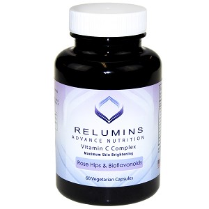 Relumins Advance Vitamin C - MAX Skin Whitening Complex With Rose Hips & Bioflavinoids - 60 Capsules (30 Day Supply)