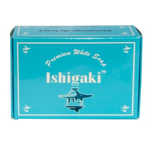 Ishigaki Premium White Glutathione Whitening Soap w/ Glutathione, Arbutin, Collagen, Virgin Coconut Oil - Non- Drying