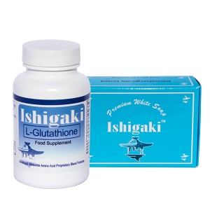 Ishigaki Premium Ultrawhite Set - Whitening Soap Bar and L-Glutathione Capsules