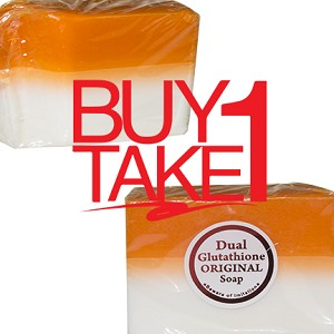 BUY ONE, GET ONE FREE !!! SCRATCH AND DENT Kojic Acid & Glutathione Dual Whitening Soap