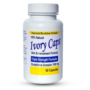 Ivory Caps Skin Enhancement Glutathione Complex 1500mg - Triple Strength Formula - NEW LOW PRICE!