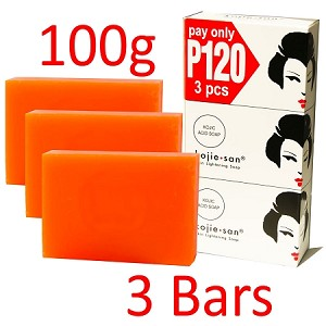 Kojie San Skin Lightening Kojic Acid Soap 3 Bars - 100g - SUPER SALE - BEST PRICE EVER!