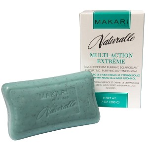 Makari Naturalle Multi-action Extreme Lightening Exfoliating Purifying Soap Enriched with Argan and Sweet Almond Oil, SPF 15, 7.0 Oz.