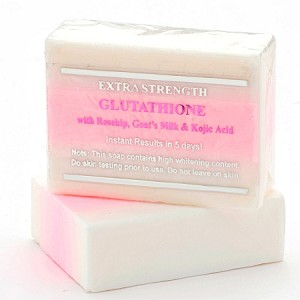 Premium Extra Strength Whitening Soap w/ Glutathione, Goat's milk, Rosehip, and Kojic Acid