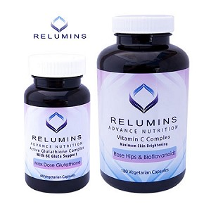Relumins Advance Nutrition Active 6X Glutathione Complex & Vitamin C MAX Capsules - Vegan, Vegetarian and Halal Certified