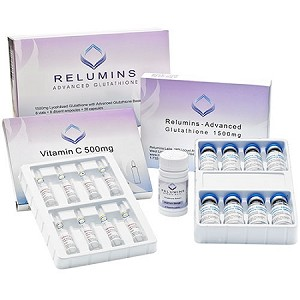 10 Sets Authentic Relumins Advanced Glutathione 2000mg PLUS Booster - Glutathione & Vitamin C with Gluta Boosters- International