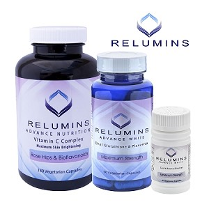 6 Sets of Relumins Advanced White Oral Glutathione, Vitamin C MAX & Booster Capsules - Ultimate Whitening Set - NEW AND IMPROVED now with Rose Hips