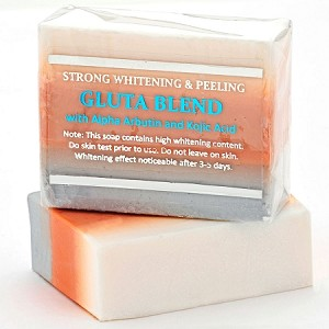5 Bars of Premium Maximum Whitening/Peeling Soap w/ Glutathione, Arbutin, and Kojic acid