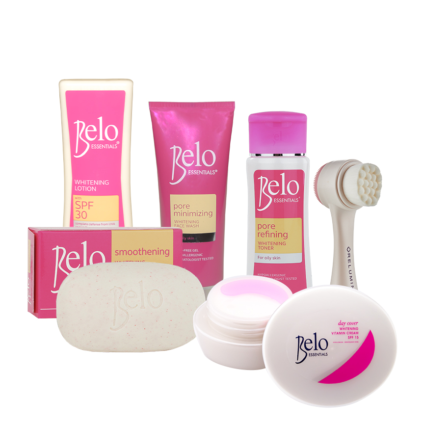 Belo Essentials Pore Refining Whitening Treatment Set With No