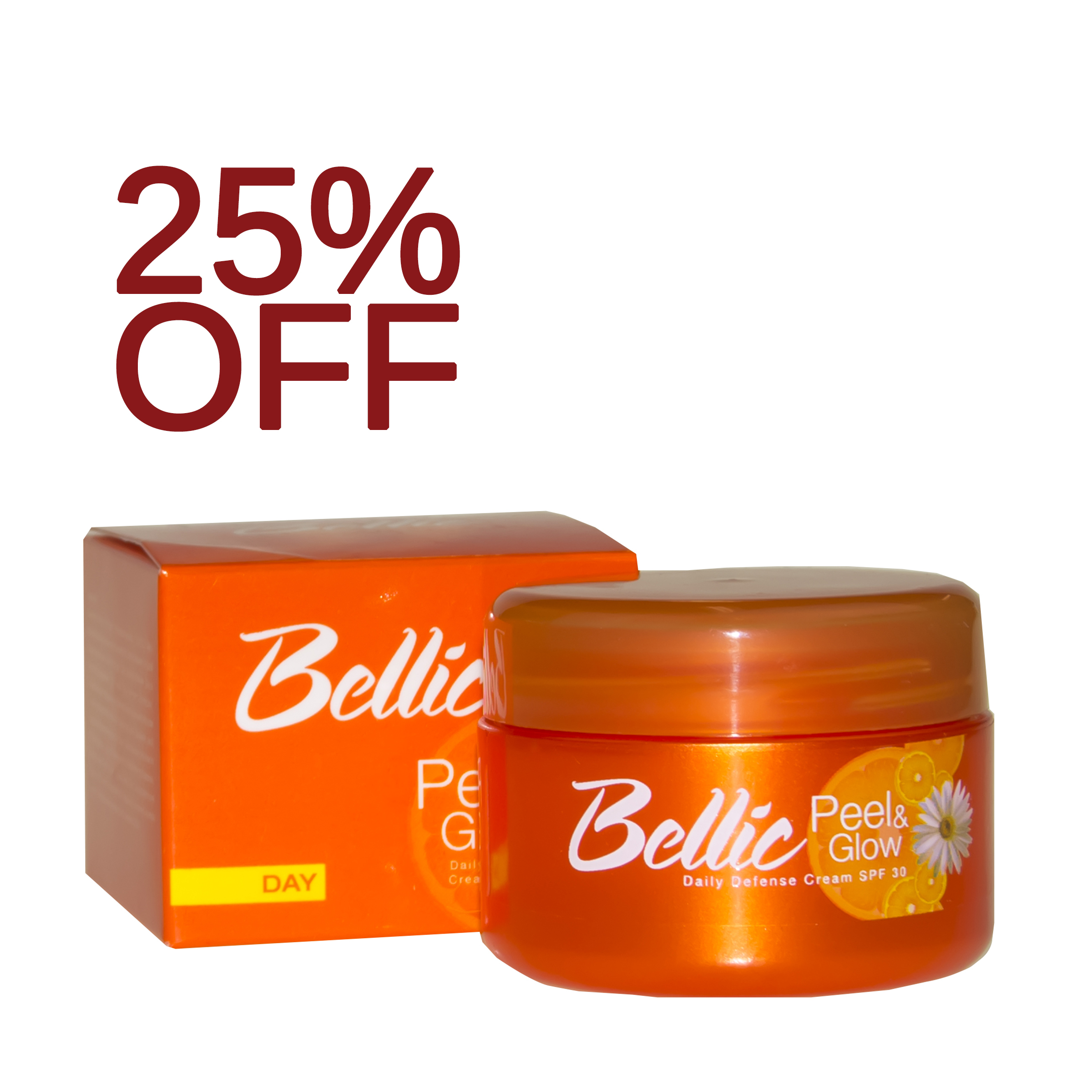 Bellic Peel and Glow Daily Defense Cream - Whiten, Renew and Protect Skin!