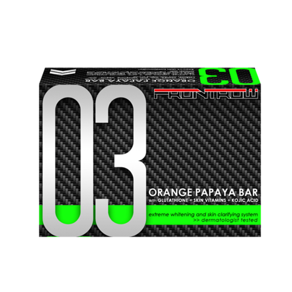 10 Bars FrontRow 03 Orange Papaya Bar with Glutathione + Skin Vitamins + Kojic Acid