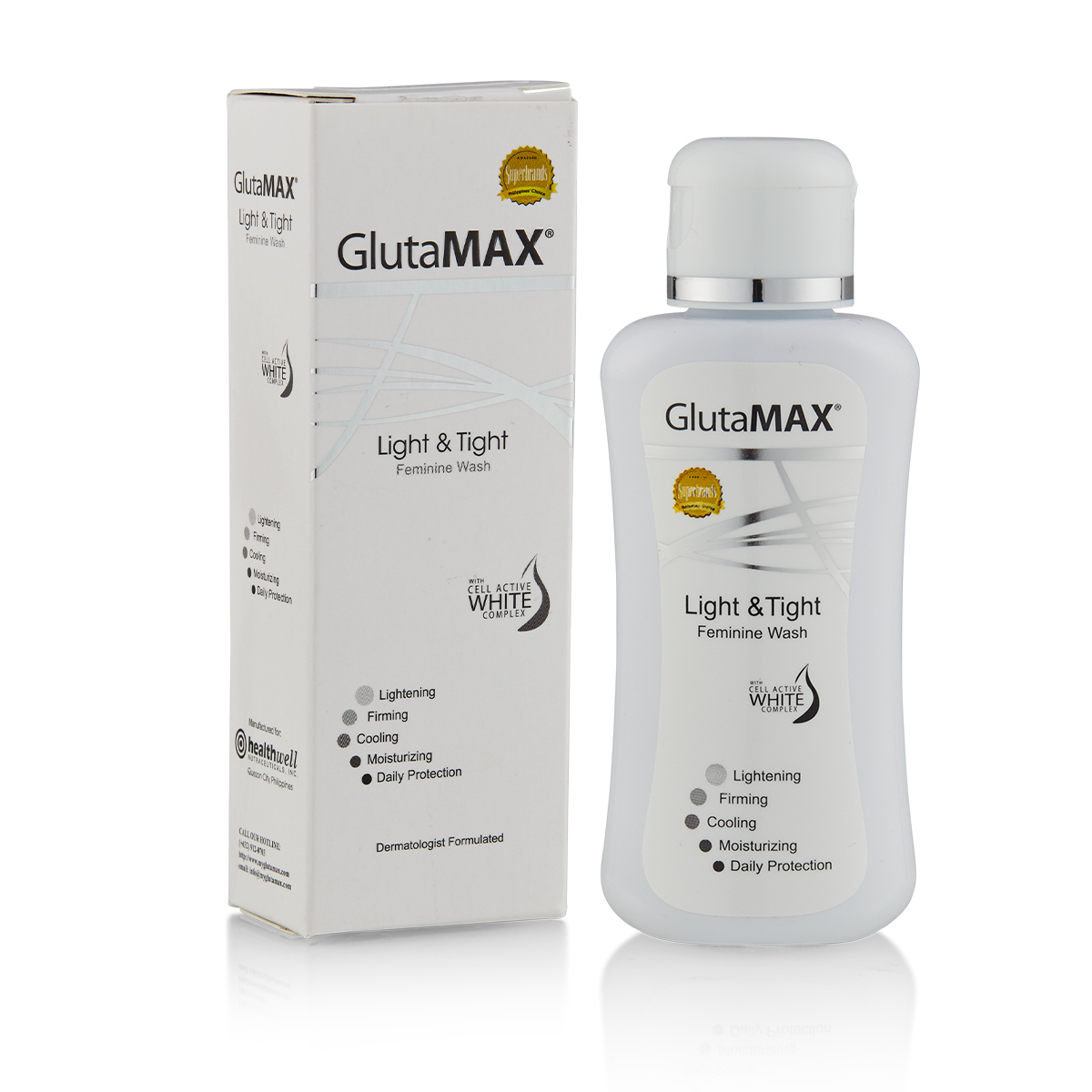 GlutaMAX Light and Tight Feminine Wash 50ml - With Cell Active White Complex