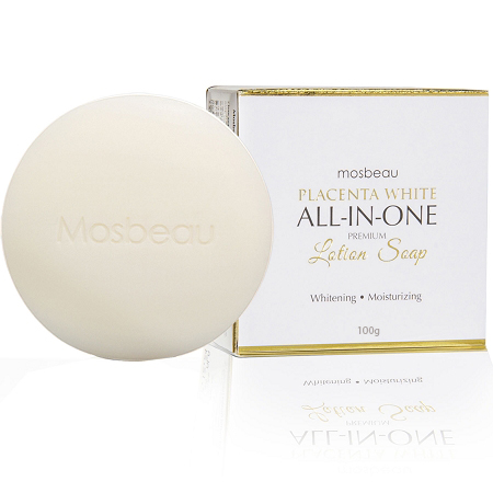 Authentic Mosbeau Placenta White All-In-One Premium Whitening Lotion Soap