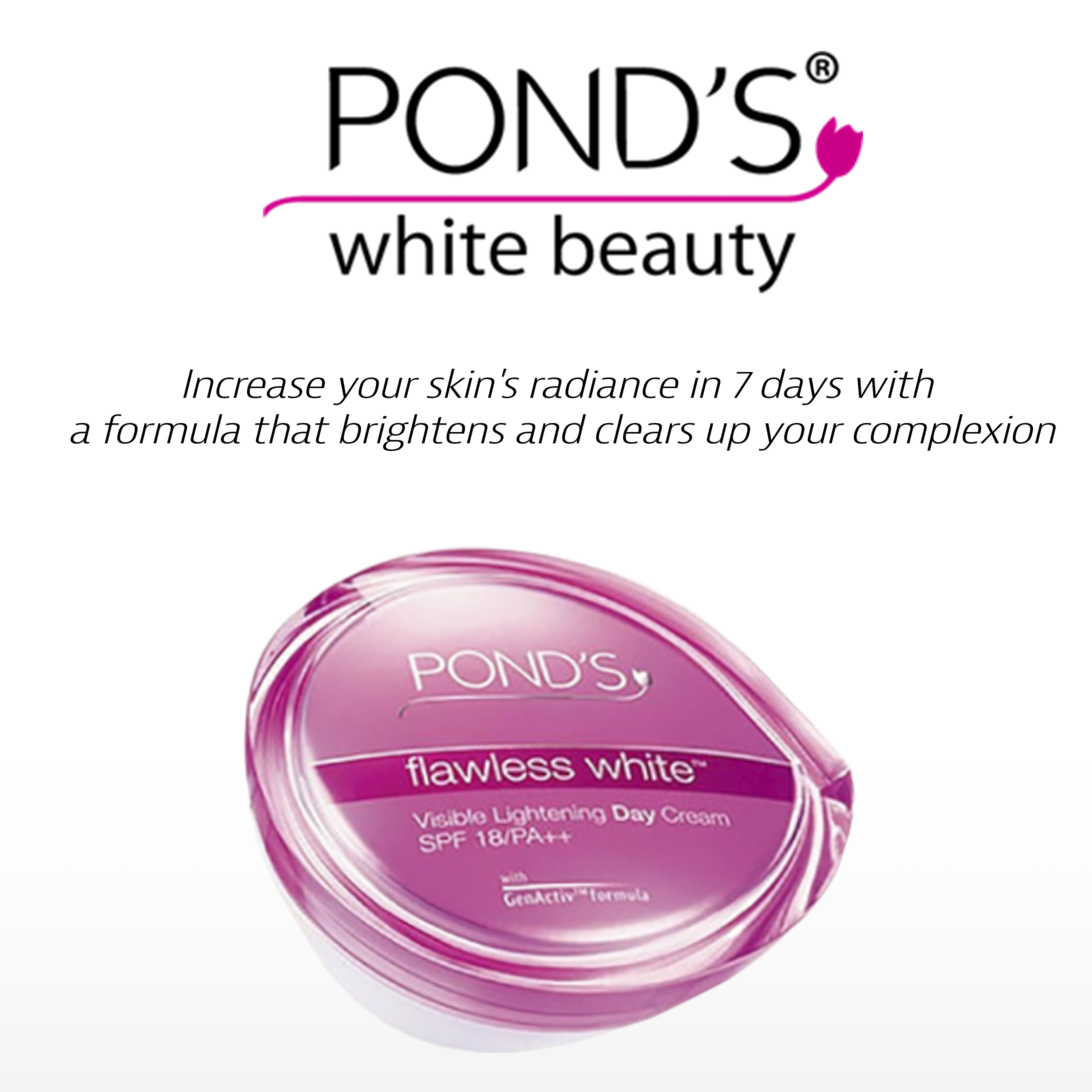 Ponds Flawless White Whitening Day Cream Package New Authentic