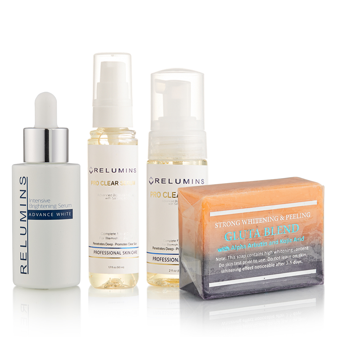 Authentic Relumins Professional Clear & Dark Spot Appearance Reducing Set !!!