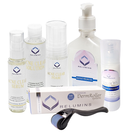 Authentic Relumins Professional Total Acne Scar Fighting Set For Hard To Whiten Sun Damaged Skin Indented Scars