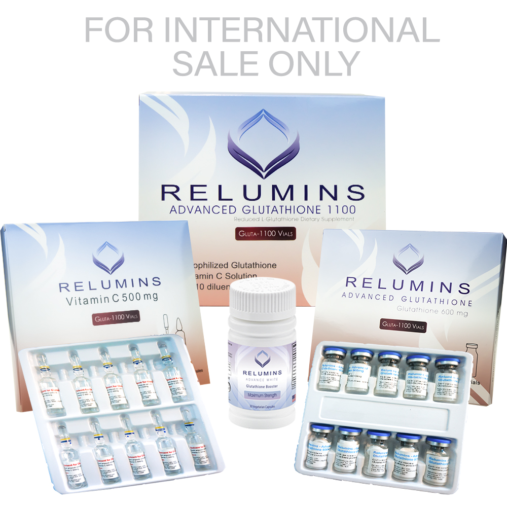 BOGO! Authentic Relumins Advanced IV Glutathione 1100mg - Glutathione & Vitamin C PLUS Gluta Boosters- Whitens, repairs & rejuvenates skin
