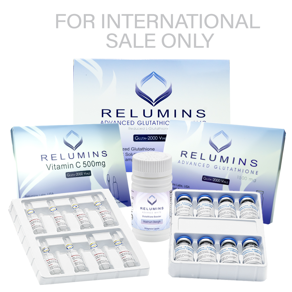 Authentic Relumins Advanced Glutathione 2000mg - Glutathione & Vitamin C  PLUS Gluta Boosters- Whitens, repairs & rejuvenates skin