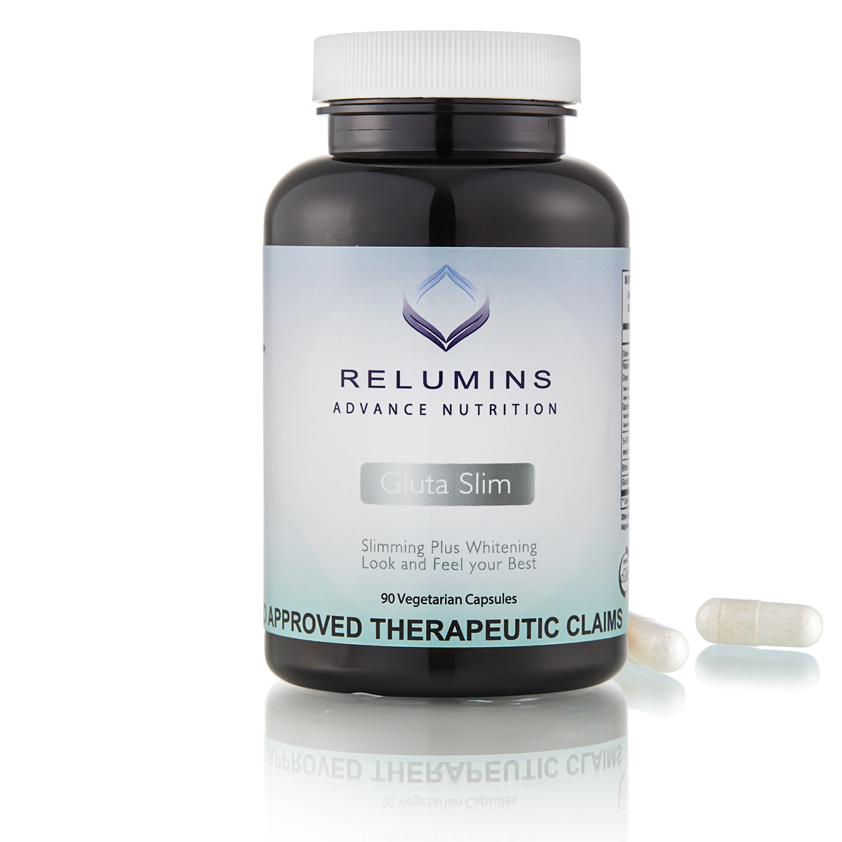 NEW! Relumins Gluta Slim - Fast Reduction of Weight and Maximum Skin Lightening Support