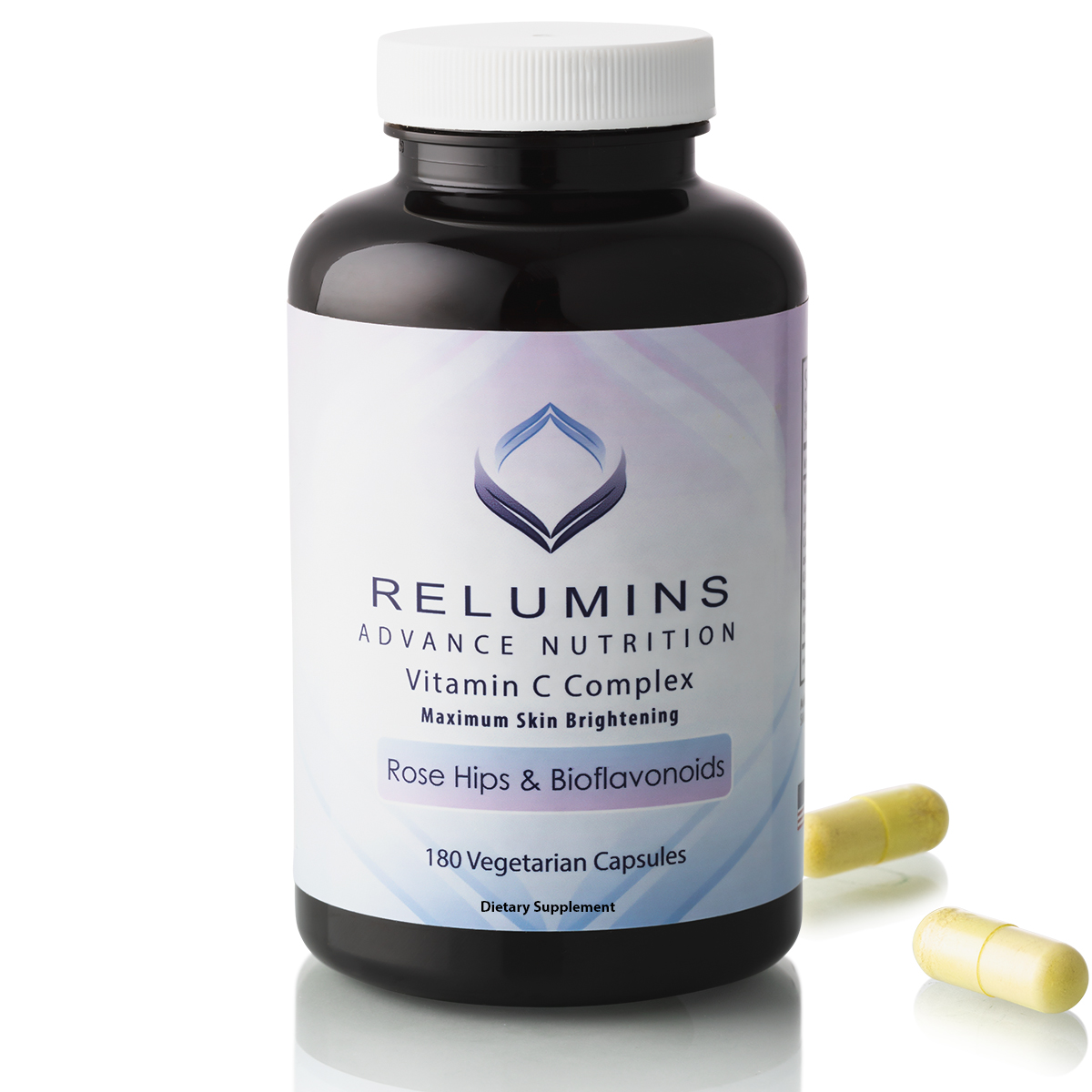 Relumins Advance Vitamin C MAX Skin Whitening Complex With Rose Hips & Bioflavinoids - 180 Capsules (90 Day Supply)