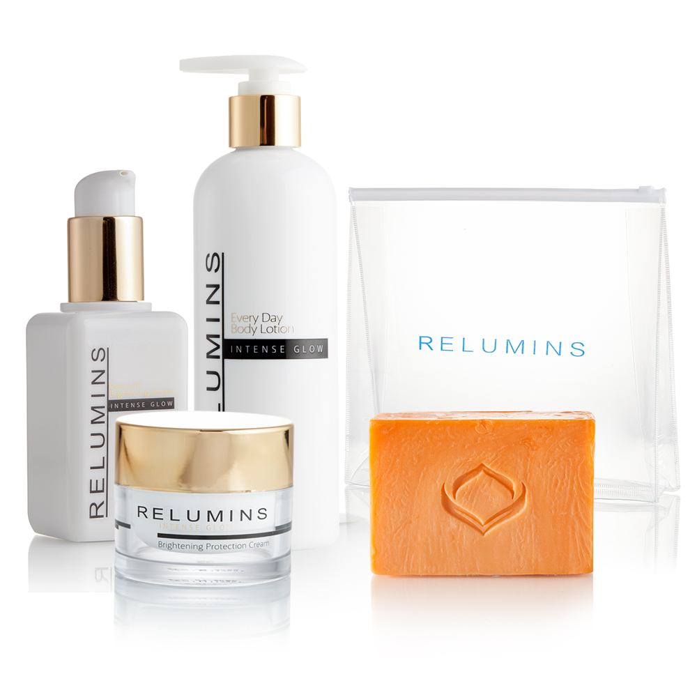 Get your glow with Remulins Glow Set with FREE Travel Bag