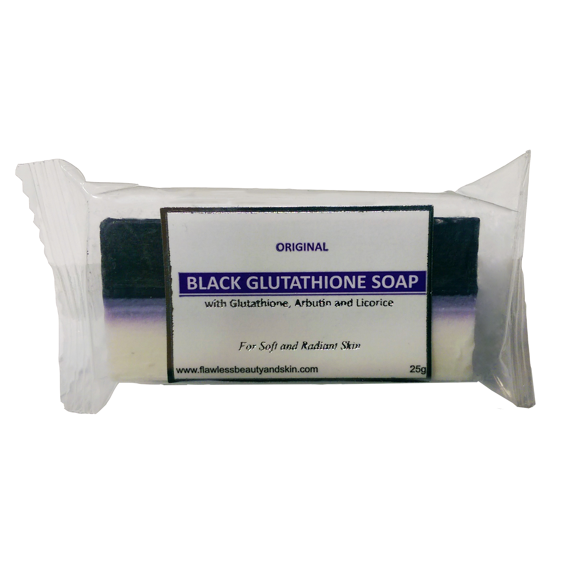 6 Bars of Glutathione & Arbutin/Licorice Black & White Soap - Whitening Beauty Bar - SAMPLE SIZE
