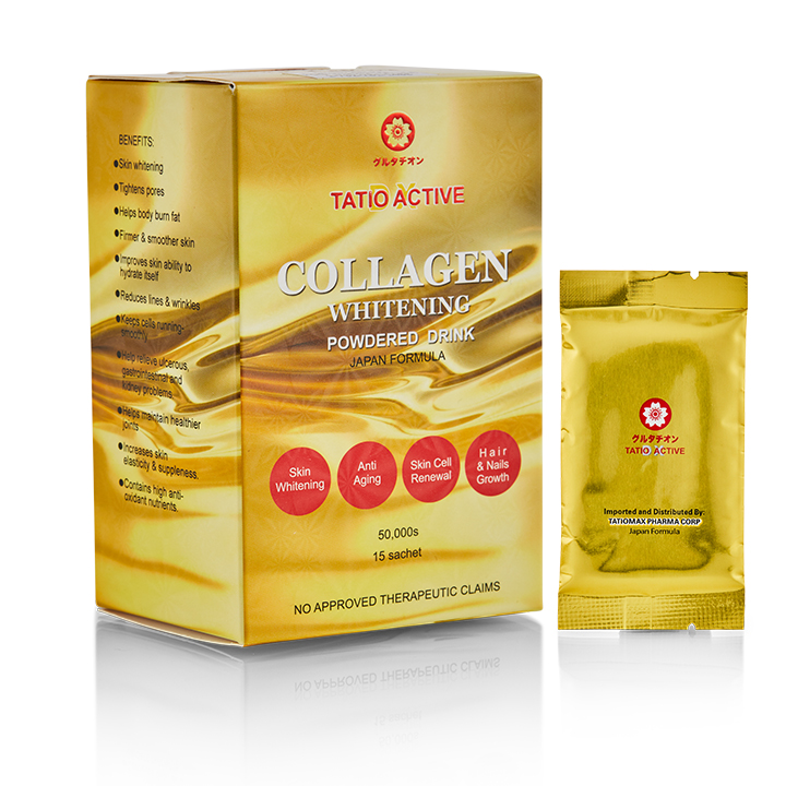Tatio Active Collagen  - 15 Sachets - 100% Premium-Grade Collagen with Glutathione