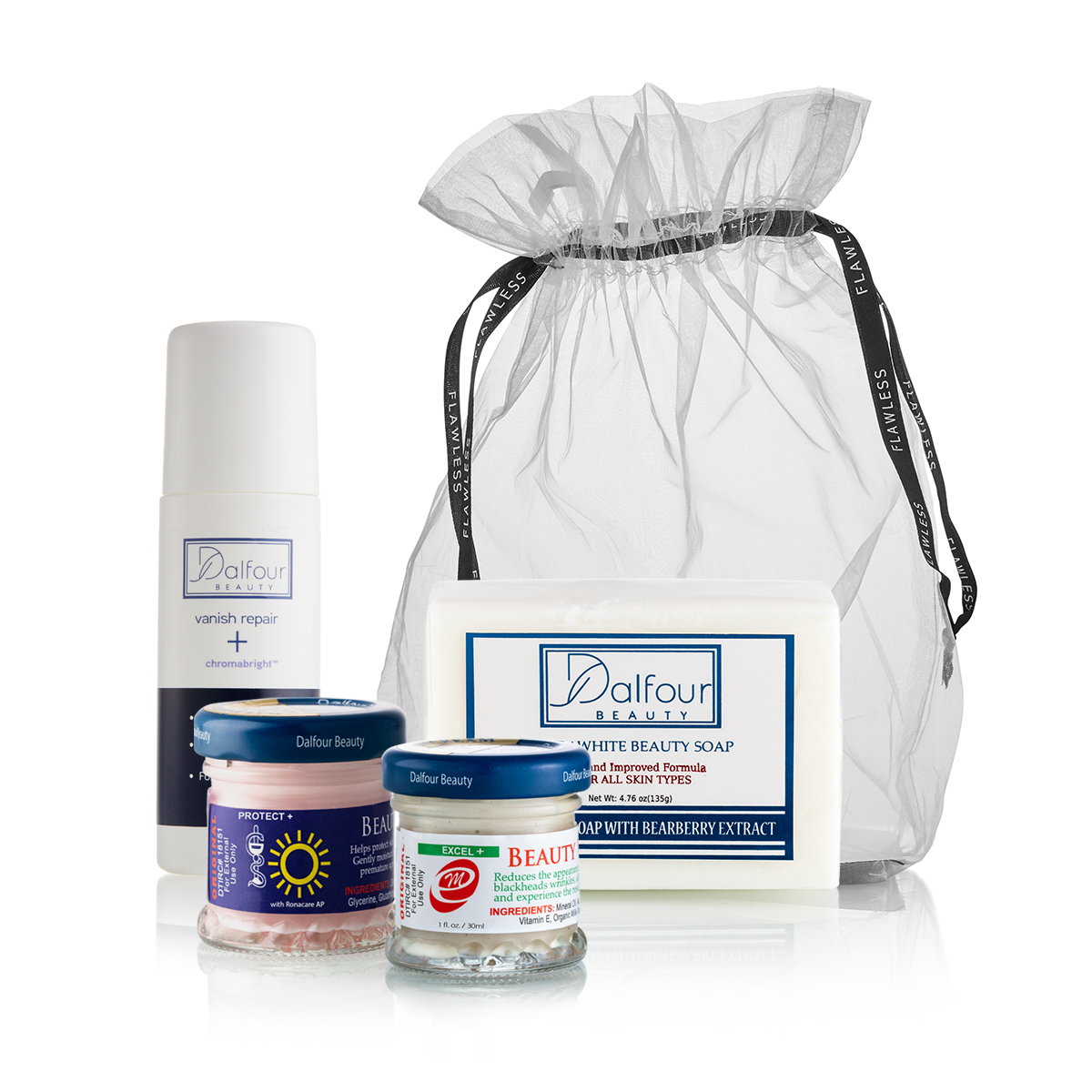 Enjoy our Best Selection of Dalfour PLUS Products with New Formulations!!! Includes a FREE Organza Bag!!